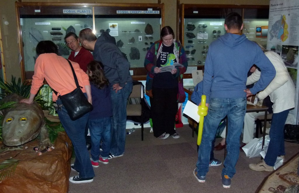 The 'Fossil Fun Day' at Dudley Museum and Art Gallery on 30 August 2014