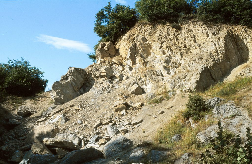 The shattered remains of the Lower Quarried Limestone Member